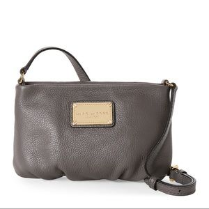 Marc Jacobs Classic Leather Crossbody Grey Gray